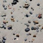 Beach is full of beautiful stones