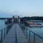 The dock area after our cruise.