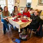 Girlfriends getaway : enjoying a leisurely breakfast at Wedgewood Inn, New Hope, Pa