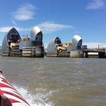 Thames flood barrier - at speed!