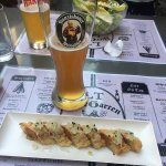Pigs in a blanket and Franz beer