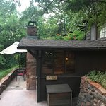 Breakfast by the creek, Owl cabin, and the swimming hole.