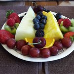 A delicious selection of fresh fruit for two