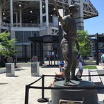 Statues outside of staium