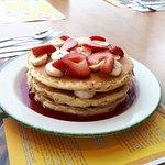 """Strawberry-Banana Pancakes"""