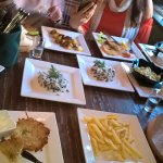 Starters and mains at the same time - Dom 7 Jazz Bar St Petersburg