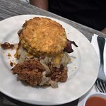 Biscuit with Fried Chicken, eummy