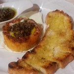 Soft baked runny egg in bread basket with TRUFFLE! Fantastico!