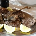 Wood Roasted Chianina Veal Chop with Lemon and Rosemary