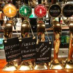 Some of the beer taps