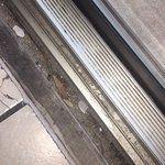 More left over debris in sliding door track!