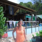 Millie is a great host at Dinghy's Beach Bar.