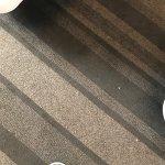 Filthy carpet in room