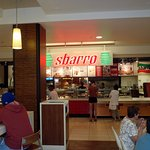 Sbarro from the dining area of the Makai Market food court at the Ala Moana Center