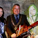 Dublin Lord Mayor Visiting Castle Dracula & Embracing his Dark Side...