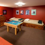 Unit 3 loft game room with two twin beds