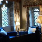 The Meadefeylde Room, Bailiffscourt Hotel, with its wonderful view over the croquet lawn to the