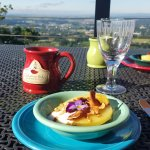 Breakast on the Patio...1st Course.