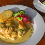 Pollo Albicocca – Free range chicken breast topped with an apricot and white wine cream sauce an