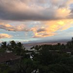 Sunrise from our lanai gave us a view of the mountains and the sound of the ocean.