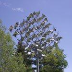 COASTAL MAINE BOTANICAL GARDENS - BOOTHBAY, MAINE - FLOCK OF BIRDS SCULPTURE