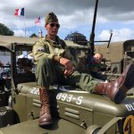 There were many French reenactors for D-Day week.