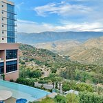 The spectacular view of the Palomar Mountain Range from our infinity pool area