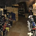 Part of the wine cellar