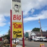 The Big Tom Drive-In sign out front at the drive thru