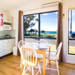 Waterfront Two Bedroom Cabin - Open Plan Kitchen, Dining, Living