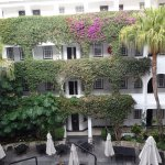 Beautiful courtyard and bouganvillea