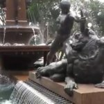 Archibald Fountain / Human defeating a strange animal
