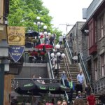 L'escalier pour éviter le funiculaire