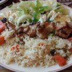 Pork Souvlaki, very large portion