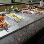 Beautiful berries and fresh fruit on the breakfast buffet