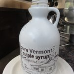 We couldn't believe this - real maple syrup for breakfast