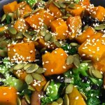 Our awesome pumpkin salad.