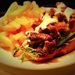 100% NZ Scotch Fillet Beer in our: Club Open Steak Sandwich