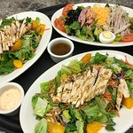 Oriental Chicken Salad and Chef's Salad