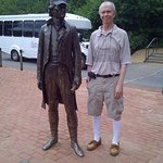Statue of Jefferson and my Husband