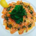 Salmon Carpaccio with Salsa Verde
