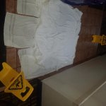 Floor after I reported leak