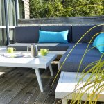 Chill on the deck lounge, perfect for coffees or a wine!