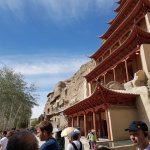 The facade of the Mogao caves