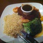 Steak, Prawns & Rice