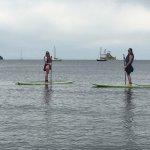 Paddleboarding at Kits Beach