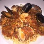 "Scrumptious seafood ""stew"" Cioppino."