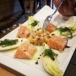 Ensalada de endibias y salmón