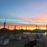 Puesta de sol en Fashion Beach Club