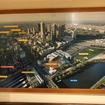 Nice pictures of important n famous Melbourne landmarks put up inside the restaurant